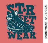street wear label design with a ... | Shutterstock .eps vector #540478921