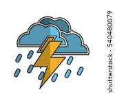 electric storm weather related... | Shutterstock .eps vector #540480079