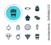 vector illustration of 12 food... | Shutterstock .eps vector #540486115