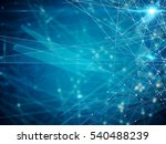 abstract connected dots... | Shutterstock . vector #540488239