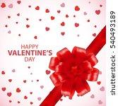 valentines day card valentine... | Shutterstock .eps vector #540493189
