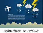 airplane and storm clouds ... | Shutterstock .eps vector #540496669