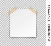 post note paper sticker... | Shutterstock .eps vector #540499681