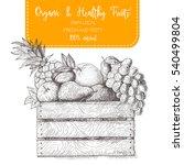 fresh fruit in box. natural... | Shutterstock .eps vector #540499804