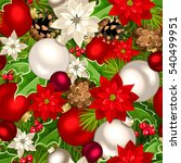 vector christmas seamless... | Shutterstock .eps vector #540499951