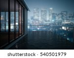 close up of concrete balcony in ... | Shutterstock . vector #540501979