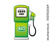 green bio fuel station pump...   Shutterstock .eps vector #540502069
