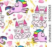 princess seamless pattern for...   Shutterstock .eps vector #540503065
