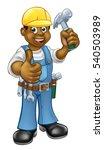 A Black Handyman Carpenter...