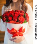 red roses in white box | Shutterstock . vector #540505171