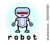 robot logo | Shutterstock .eps vector #540505585