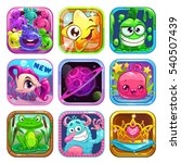 funny cartoon square app icons...