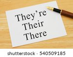 learning to use proper grammar  ... | Shutterstock . vector #540509185