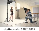 photographer taking picture of  ... | Shutterstock . vector #540514039