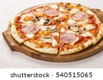 Pizza With Ham And Mushrooms O...