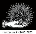 ornate old fashioned hand with... | Shutterstock .eps vector #540515875