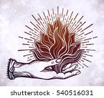 ornate old fashioned hand with... | Shutterstock .eps vector #540516031