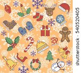 a set of merry christmas  new... | Shutterstock .eps vector #540520405