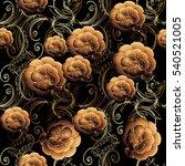 floral seamless pattern.... | Shutterstock .eps vector #540521005