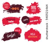 winter sale. grunge vector... | Shutterstock .eps vector #540521464