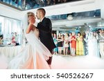 happy bride and groom and their ...   Shutterstock . vector #540526267