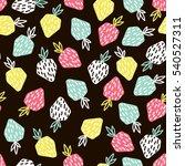 modern fruit seamless pattern.... | Shutterstock .eps vector #540527311