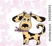 cute cartoon dog. vector... | Shutterstock .eps vector #540528541