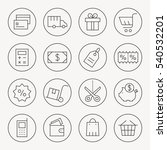 shopping thin line icon set | Shutterstock .eps vector #540532201