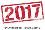 2017 stamp | Shutterstock .eps vector #540532849