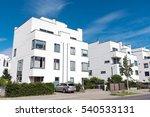 modern white twin houses seen...   Shutterstock . vector #540533131