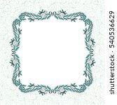 beautiful frame of leaves.... | Shutterstock .eps vector #540536629