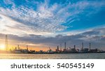 industrial view at oil refinery ... | Shutterstock . vector #540545149