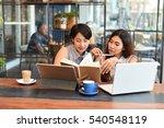 asian beautiful woman working... | Shutterstock . vector #540548119