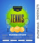 tennis poster vector background.... | Shutterstock .eps vector #540554275