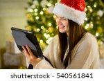 Charming Girl In Santa's Cap...