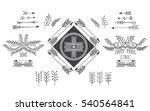 set of creative boho style... | Shutterstock .eps vector #540564841