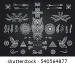 set of ethnic elements. modern... | Shutterstock .eps vector #540564877