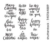 wonderful handwritten christmas ... | Shutterstock .eps vector #540564889