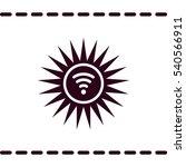wifi icon  flat design style | Shutterstock .eps vector #540566911