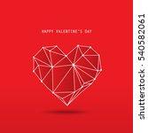 heart for valentine's day... | Shutterstock .eps vector #540582061