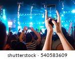 people use smart phones record... | Shutterstock . vector #540583609