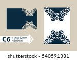layout congratulatory envelope... | Shutterstock .eps vector #540591331