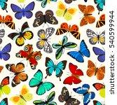 Stock vector butterflies seamless pattern 540599944