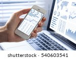 investor analyzing stock market ... | Shutterstock . vector #540603541