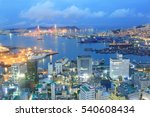 beautiful night view of busan... | Shutterstock . vector #540608434