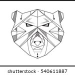 bear's head  could be use for... | Shutterstock .eps vector #540611887