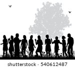 vector  silhouette of dancing... | Shutterstock .eps vector #540612487