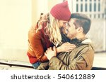 love  outdoors  winter concept. ... | Shutterstock . vector #540612889