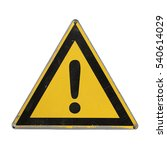 warning danger. yellow triangle.... | Shutterstock . vector #540614029