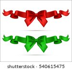 collection of christmas silk... | Shutterstock . vector #540615475